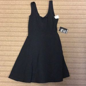 Express Fashion Fit & Flare Black Dress New Sz M